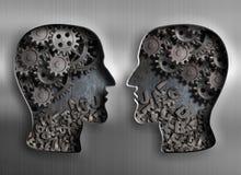 Concept mededeling, dialoog, informatie en Stock Fotografie