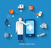 Concept of medical app. Royalty Free Stock Images