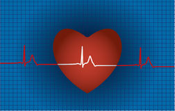 Concept of medical problem with heart Royalty Free Stock Photo