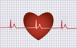 Concept of medical problem with heart Stock Image