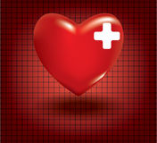 Concept of medical problem with heart Stock Photography