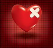 Concept of medical problem with heart Royalty Free Stock Photos