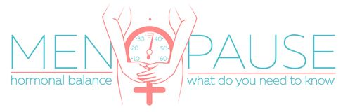 Concept of menopause banner. Concept of menopause in the form of a silhouette of a woman with a clock measuring age. banner in a linear style with the Stock Image