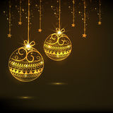 Concept of Merry Christmas and Happy New Year celebrations. Royalty Free Stock Photo