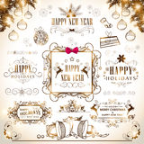 Concept of Merry Christmas and New Year calligraphy and typograp. Happy New Year 2015 and Merry Christmas calligraphic and typographic collection Stock Image