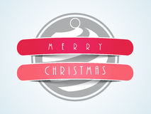Concept of Merry Christmas sticker, tag or label. Stock Photography