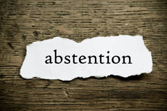 Concept  message on paper  - abstention Stock Images