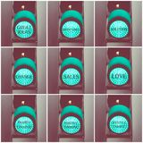 Concept messages written over green traffic lights Stock Images