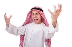 Concept met de Arabische geïsoleerde mens Royalty-vrije Stock Foto