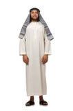 Concept met de Arabische geïsoleerde mens Stock Fotografie
