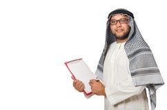 Concept met de Arabische geïsoleerde mens Royalty-vrije Stock Fotografie