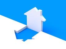 Concept met huisvorm Stock Afbeeldingen