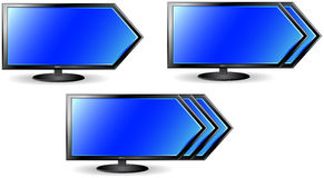 Concept met pijl en TV Royalty-vrije Stock Foto
