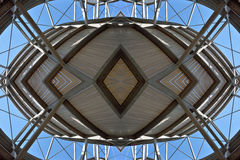 Concept for a metal-wood structure. Stock Photography