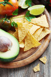 Concept of mexican food with raw vegetables Royalty Free Stock Photography