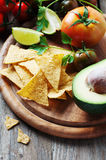 Concept of mexican food with raw vegetables Stock Photo