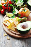 Concept of mexican food with raw vegetables Royalty Free Stock Photo