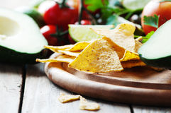 Concept of mexican food with raw vegetables Stock Photography