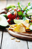 Concept of mexican food with raw vegetables Stock Image