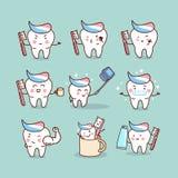 Concept mignon de brosse à dents de bande dessinée illustration stock