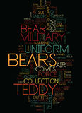 Concept militaire de nuage de Teddy Bears Text Background Word Photo libre de droits