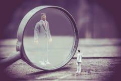 Concept miniature d'affaires Images stock