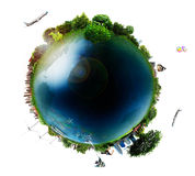 Concept miniature globe showing Royalty Free Stock Images