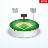 Concept of miniature round tabletop Baseball stadium Stock Image