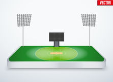 Concept of miniature tabletop cricket stadium Stock Photos