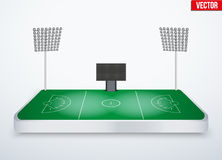 Concept of miniature tabletop lacrosse stadium Stock Photos