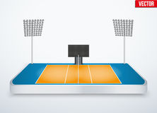 Concept of miniature tabletop volleyball arena Royalty Free Stock Photography
