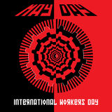 Concept minimal de vecteur pour le jour international de travailleurs Image libre de droits