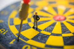 Concept of missed target business strategy. Stock Image