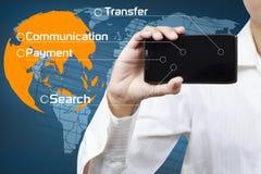 Concept mobiel communicatiemiddel Stock Foto