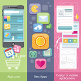 Concept of Mobile Application Store Stock Photography