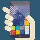 Concept For Mobile Apps, Flat Design Stock Image