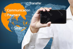 Concept of mobile communication Stock Photo