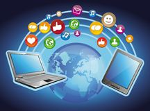 concept - mobile computers Royalty Free Stock Image