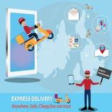 Concept mobile d'application, application facile de moto d'appel Images stock