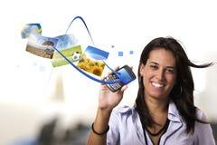 Concept mobile d'Internet Photos stock