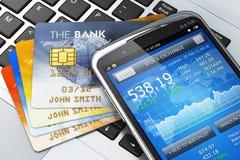 Concept mobile d'opérations bancaires et de finances