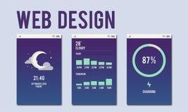 Concept mobile de disposition d'interface de web design Photographie stock libre de droits