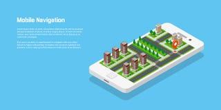 Concept mobile de navigation Illustration Stock