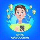 Concept mobile de navigation de GPS Idée de technologie moderne illustration de vecteur