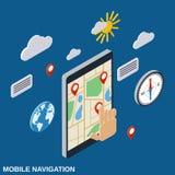 Concept mobile de vecteur de navigation Illustration Stock