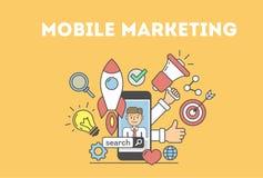 Concept mobile de vente Images libres de droits