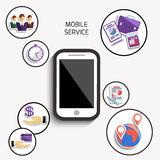Concept of mobile services for business Royalty Free Stock Photos