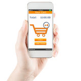 Concept of mobile shopping Royalty Free Stock Images