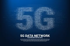 5G mobile networking with one and zero binary code digit matrix style. Concept for mobile sim card technology and network royalty free stock photography