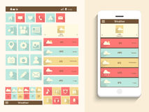Concept of mobile user interface. Royalty Free Stock Images